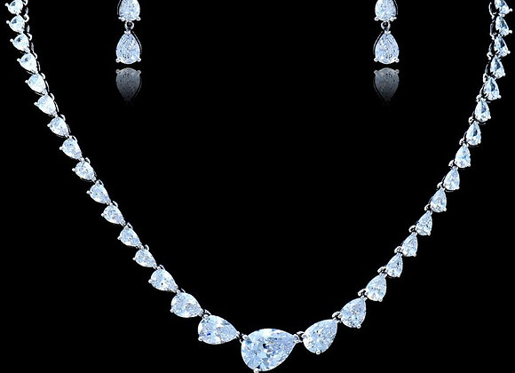 Necklace Set Cubic Zirconia BZ With Gift Box