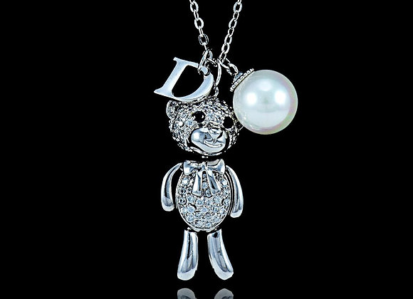 Bear Pearl D Necklace With Gift Box
