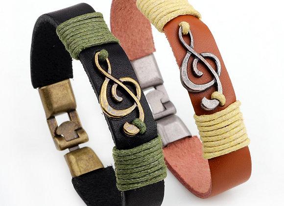 Unisex Zinc Alloy Music Note Bracelets