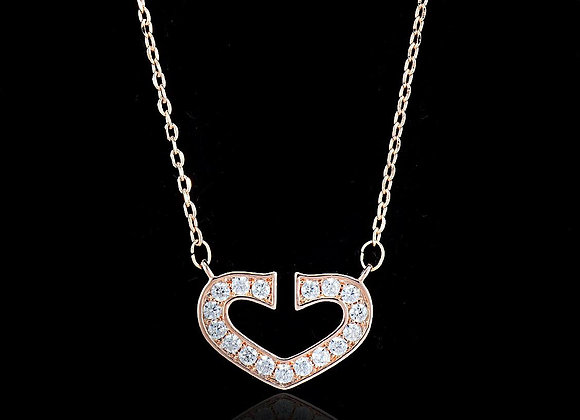 Elegant Heart Necklace With Gift Box