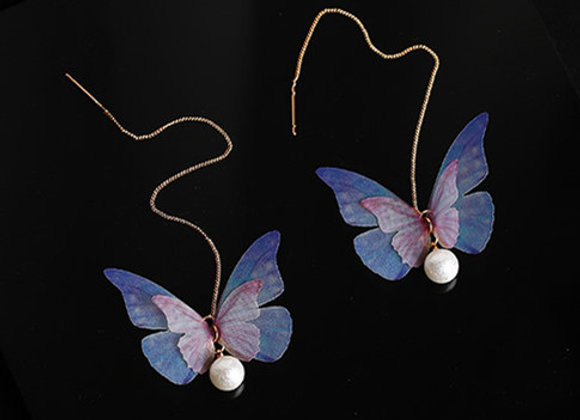 Butterfly Pearl Fashion Earrings With Gift Box