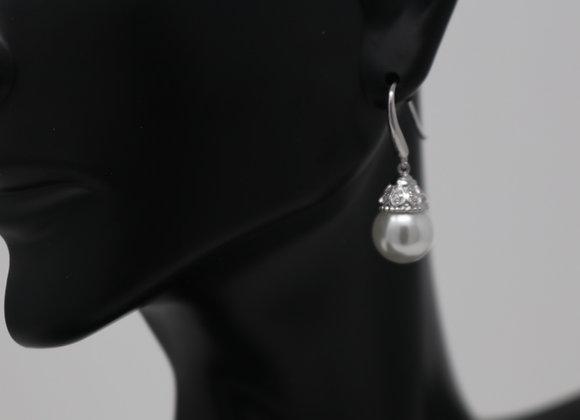 Hoop Pearl Earrings SS With Gift Box