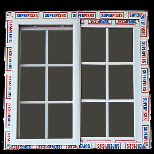 Ventanas  Blancas de PVC con Vidrio Reflectivo