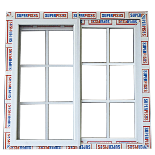 Ventanas Blancas de PVC con Vidrio Transparente