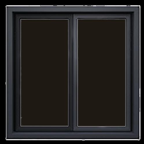 Ventanas  Negras de PVC con Vidrio Reflectivo