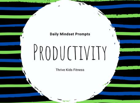 Productivity Mindset Prompts for Kids