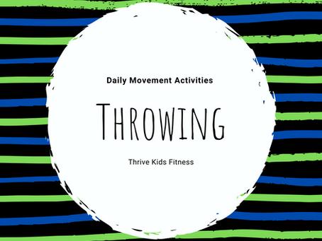 A Week of Throwing Activities!