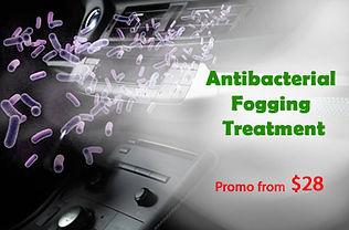 Car air con antibacterial fogging treatment