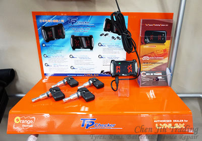 TPMS, tire pressure mornitoring sensor, orange TP checker