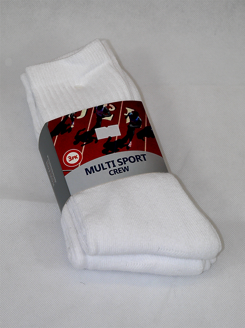 RM White Ankle Sock
