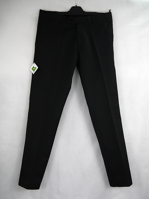 THS Boys Black Slim-Fit Trousers