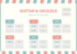 Teal and Pink Patterned Class Schedule (