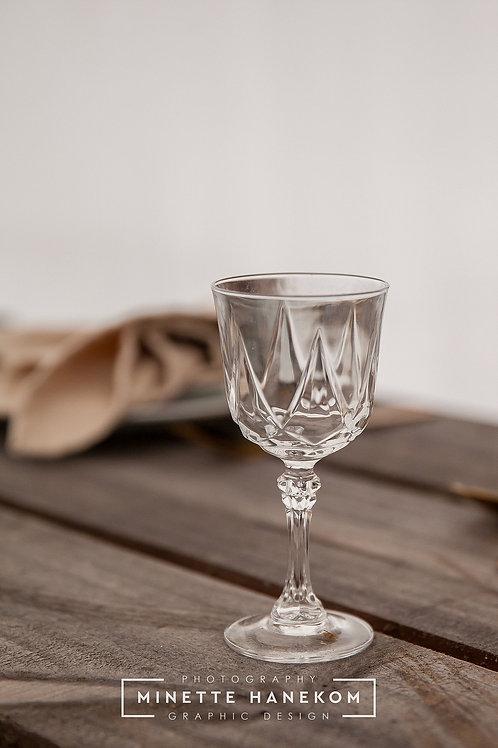 Vintage Crystal Wine Glass