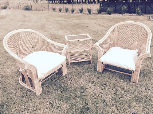 Cane furniture set 3