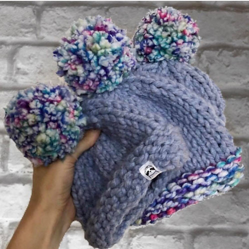Hand Knitted Bobble Hats