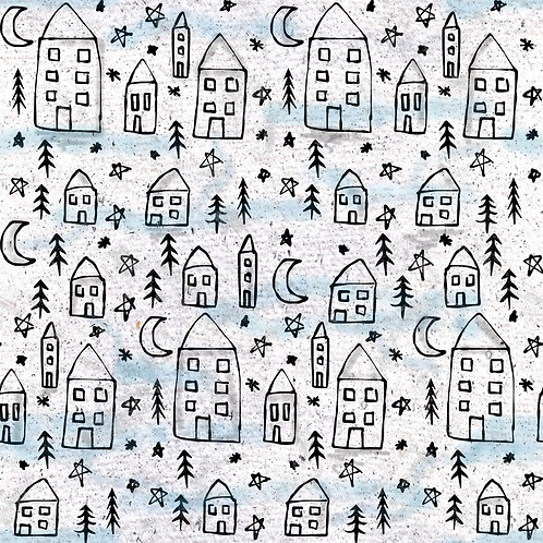 WINTER VILLAGE PRINT