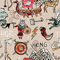 SOLD cream vikings  fabric.jpg