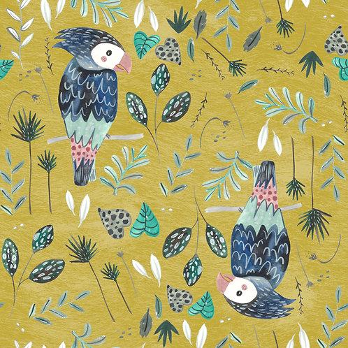MUSTARD BIRDS PRINT