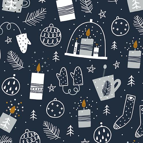 CHRISTMAS CANDLELIGHT PRINT