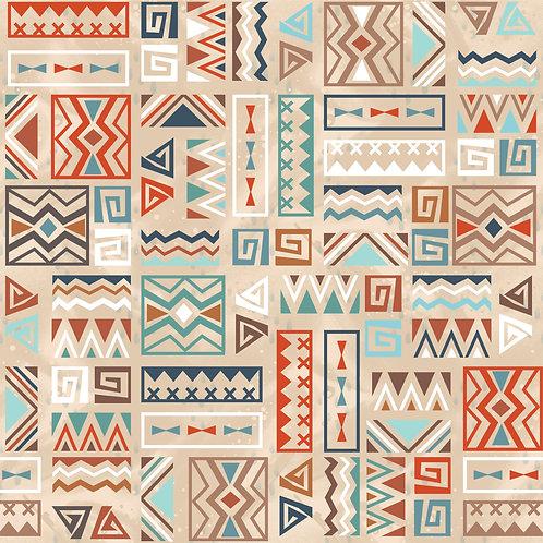 BEIGE AZTEC  PRINT