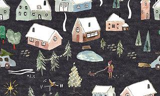SOLD dark snowy village.jpg