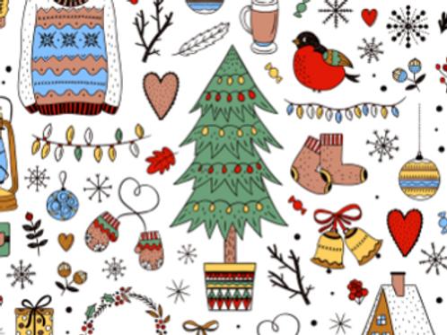 WHITE CHRISTMAS PRINT