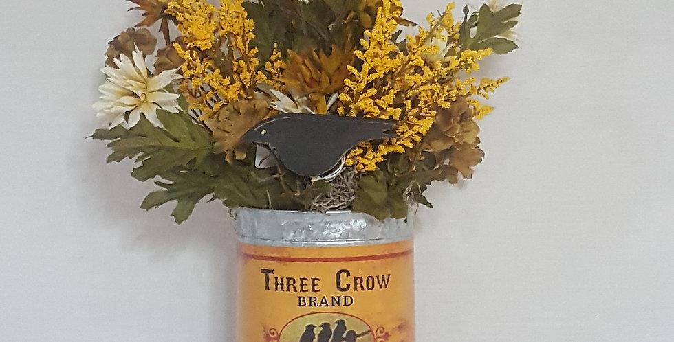 Three Crow Tin Fall Arrangement