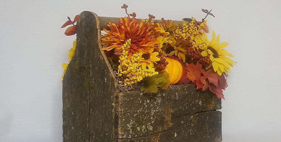 Rustic Tool Box Fall Floral