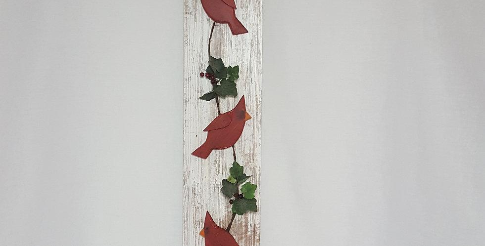Wall Hanging Cardinal Trio