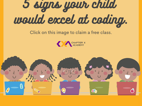 5 signs your child will excel at coding.