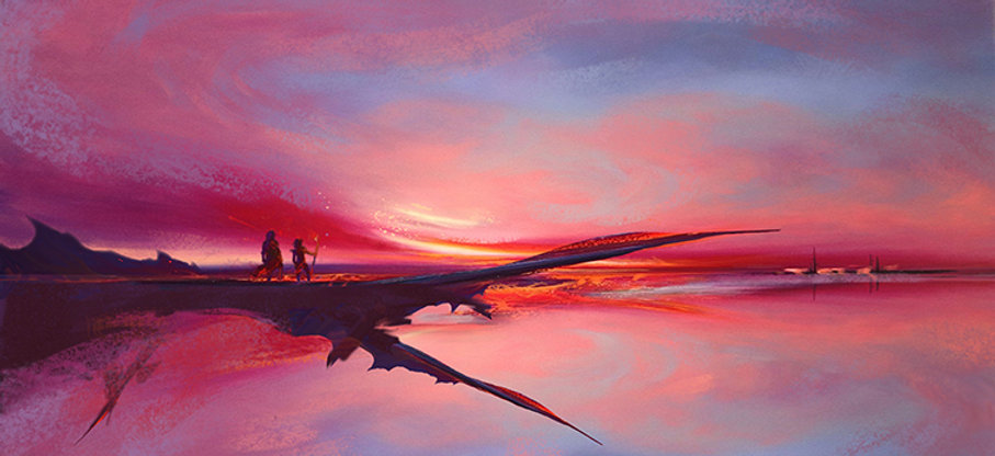 Dragon picture in digital painting by florent dufor
