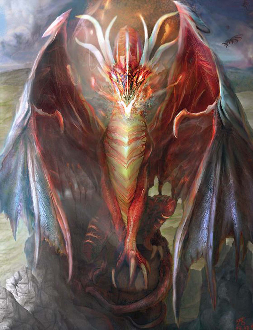 Dragon picture in digital painting