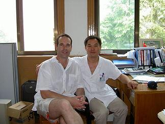AAran Church with his Acupuncture teacher