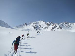 Aufstieg in Kirgistan