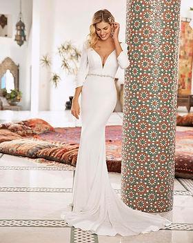 Elegant  plain wedding dress bl307.jpg