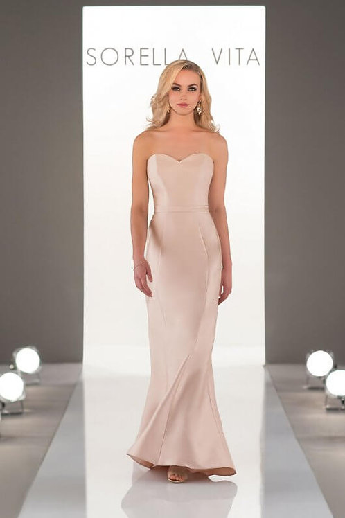 9058 Mikado Satin Bridesmaid Dress SALE!