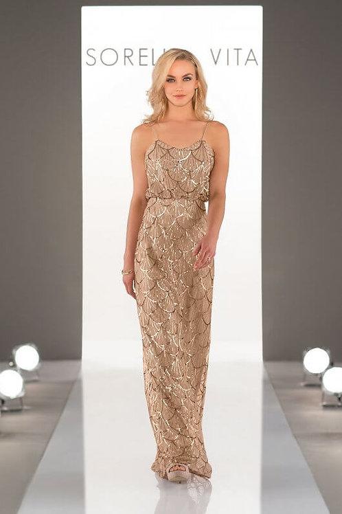 9064 Gold Sequin SALE Bridesmaid dress