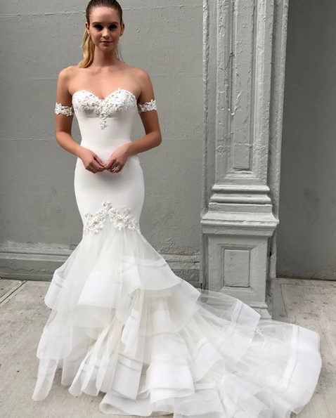 Fishtale wedding dress