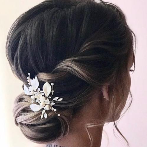 Lily Porcelain Handmade Bridal Hair Accessory
