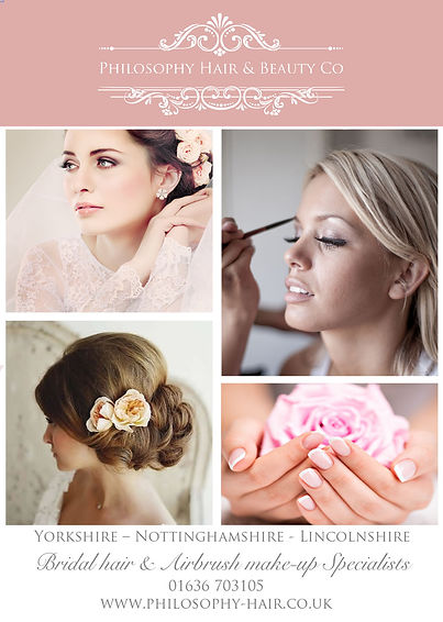 Bridal Hair and Beauty Specialists covering Nottinghamshore and South Yorkshire