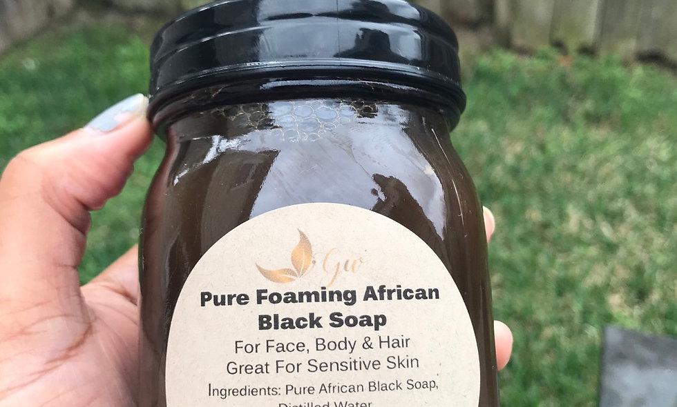 Foaming African Black Soap Face & Body Wash 16oz