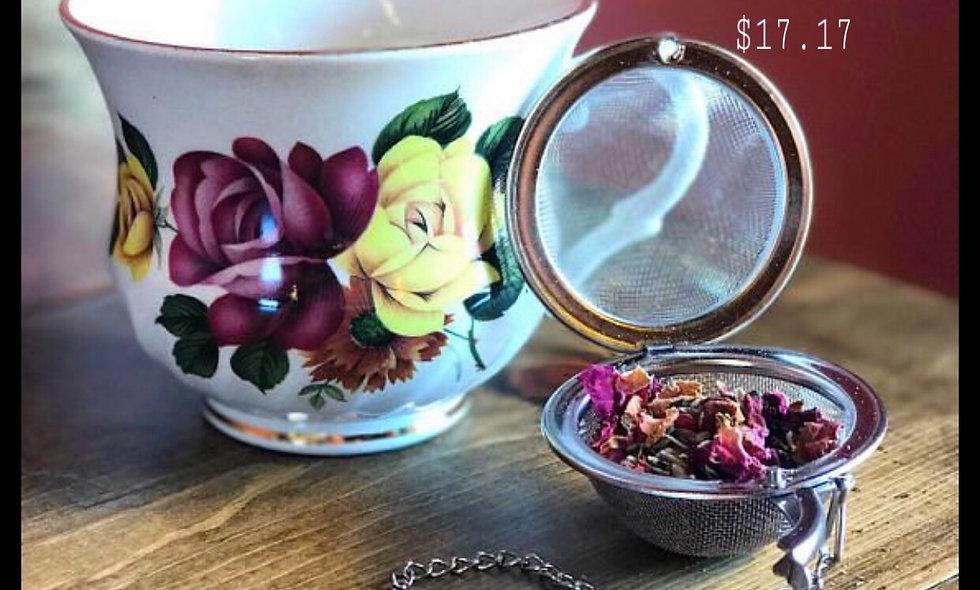 8oz Mahari Rose Tea w/ Crystal Infuser