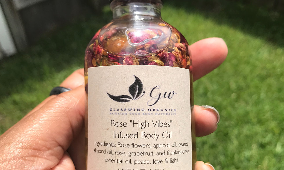 "Rose ""High Vibes"" Infused Body Oil"
