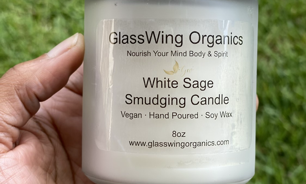 White Sage Smudging Candle