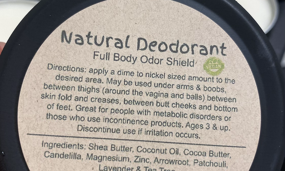 Natural Deodorant | Full Body Odor Shield