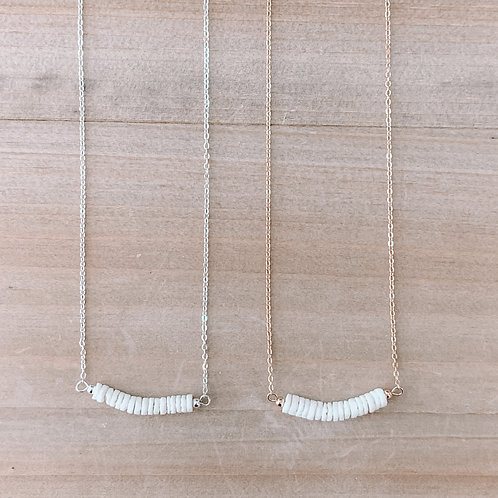 Clam Shell Bar Necklace