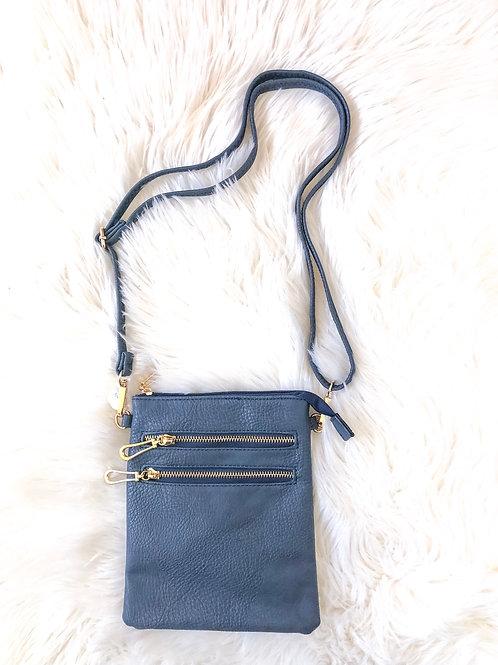 Double Zip Small Crossbody Bag
