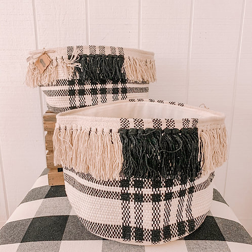 Black Check Basket