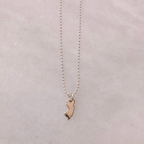 Sterling Silver NJ Necklace