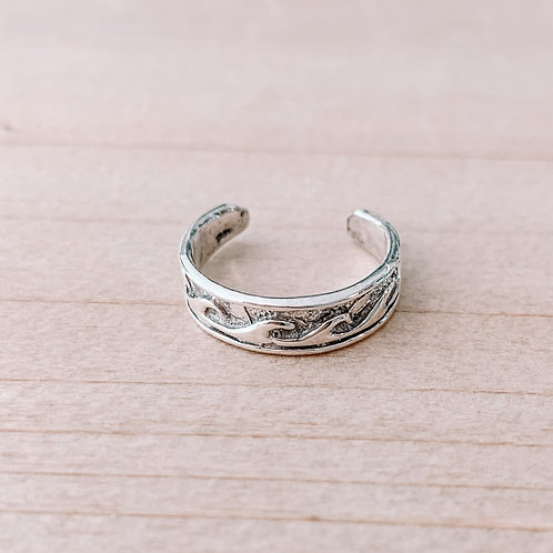 Wave Band Toe Ring